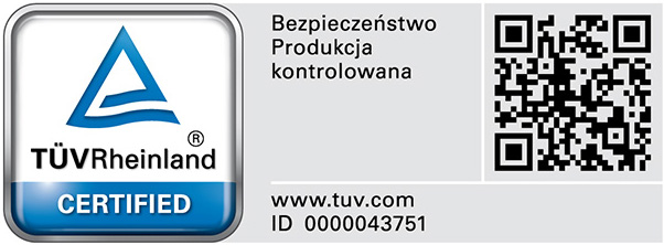 Certificate TÜV Rheinland